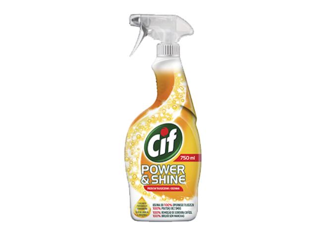 DET.CIF SPRAY POWER & SHINE LIMPA COZINHA 750ML C/12