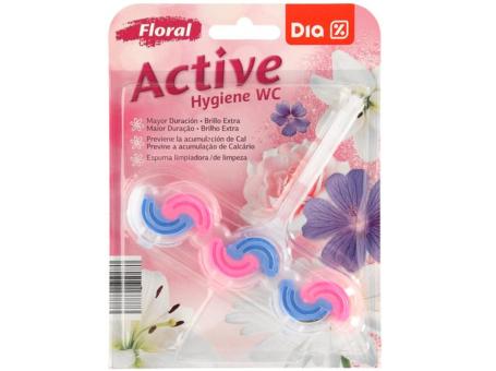 BLOCO SANIT. SOLIDO ACTIVE FLORAL DIA 45G C/10
