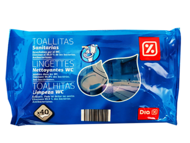 TOALHITAS LIMPEZA WC DIA 40UN C/16