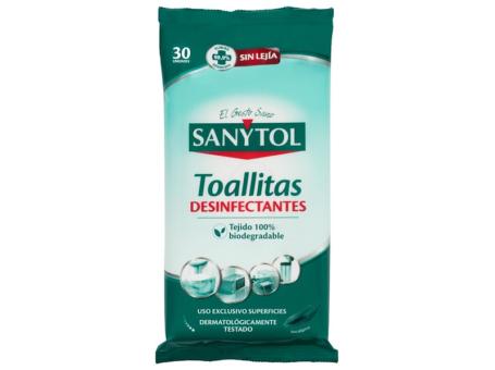 TOALHITAS DESINFECTANTES SANYTOL 30UN C/10