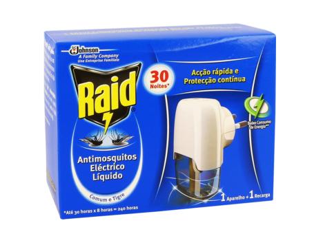 ANTI MOSQUITOS ELECTRICO RAID + REC. 30N C/12
