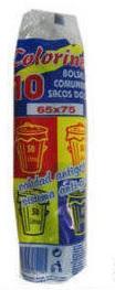 SACOS LIXO COLORINES PRETO 65x75 50L 10UN C/50