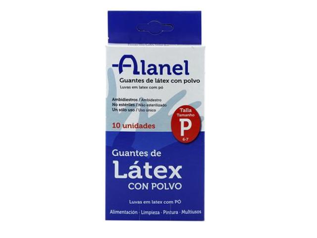 LUVAS LATEX C/PO DESCART. ALANEL T.P. 10UN
