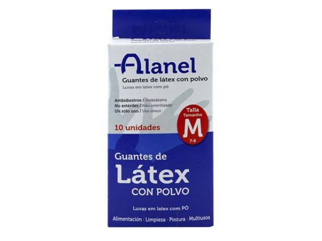 LUVAS LATEX C/PO DESCART. ALANEL T.M. 10UN