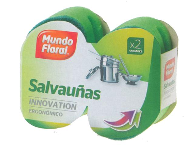 ESPONJA SALVA UNHAS ERGONOMICA M. FLORAL 2UN C/20