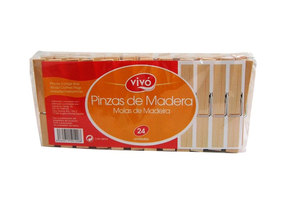 MOLAS DE MADEIRA VIVO 24UN C/30
