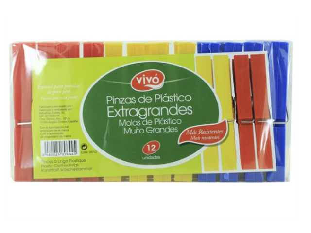 MOLAS PLASTICO EXTRA GRANDES VIVO 12UN C/30