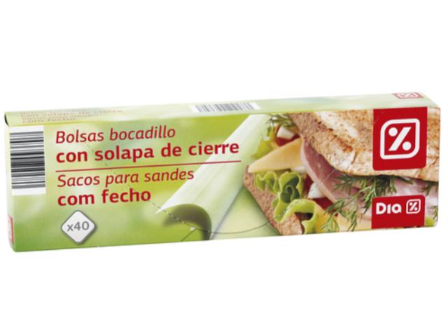 SACOS PARA SANDES C/FECHO DIA 40UN C/32