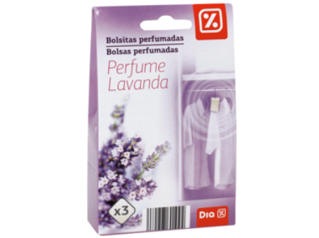 BOLSAS PERFUMADAS LAVANDA 3X7G C/12