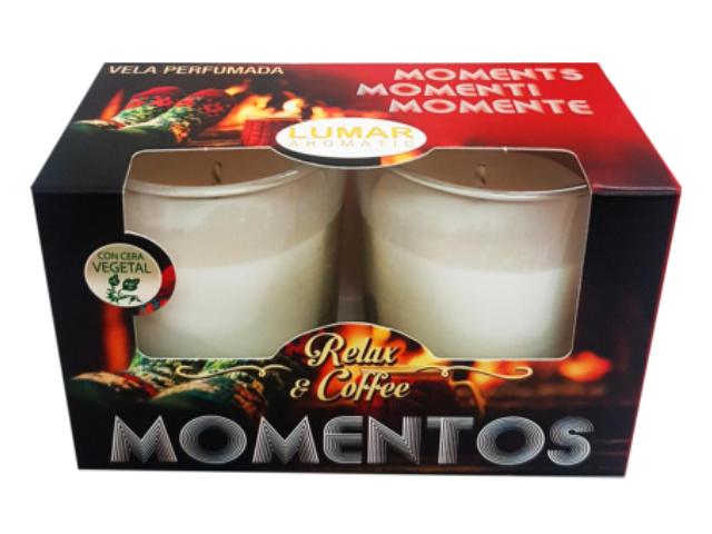 VELA PERF. MOMENTOS COFFEE LUMAR 2UN C/6