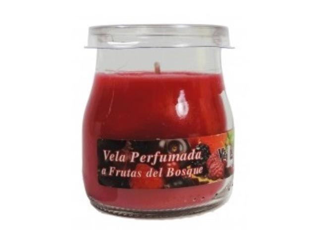 VELA PERFUMADA FRUTOS DO BOSQUE LUMAR C/12