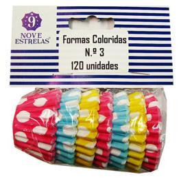 FORMAS COLORIDAS Nº3 9ESTRELAS 120UN C/24