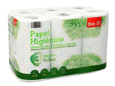 PAPEL HIGIENCIO PREMIUM DIA 12R C/8