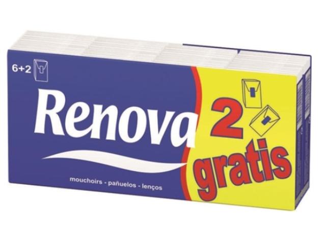 LENÇO PAPEL RENOVA PACK 8UN C/30