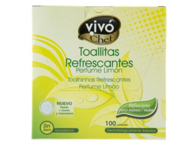 TOALHITAS REFRESCANTES LIMAO VIVO 100UN C/8