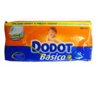 TOALHITAS DODOT BASICO 54UN C/18