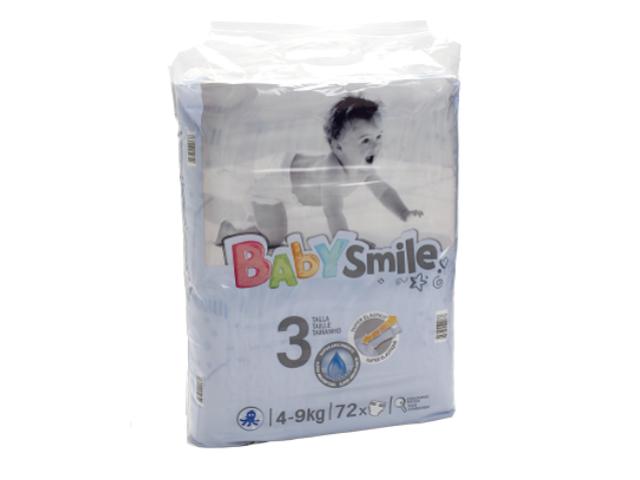 FRALDAS DIA BABY SMILE T3 4-9KG 72UN