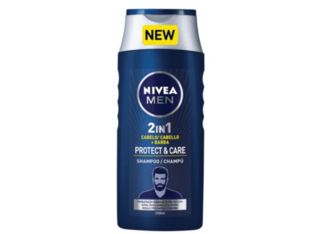 CH. CABEL. BARBA PROTECT & CARE MEN NIVEA 250ML C/12
