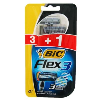 LAMINAS BIC 3 COMFORT FLEX 3+1UN C/4