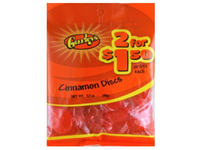 CINNAMON DISCS GURLEYS 92G C/12