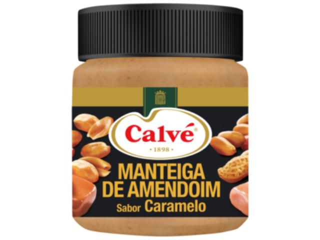 MANT. AMENDOIM COM CARAMELO CALVE 210G C/8