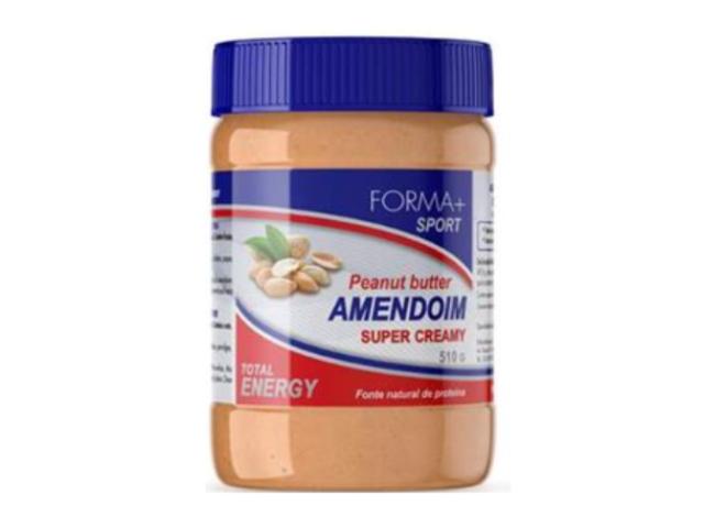 MANTEIGA AMENDOIM CREMOSA FORMA+ 510G C/12