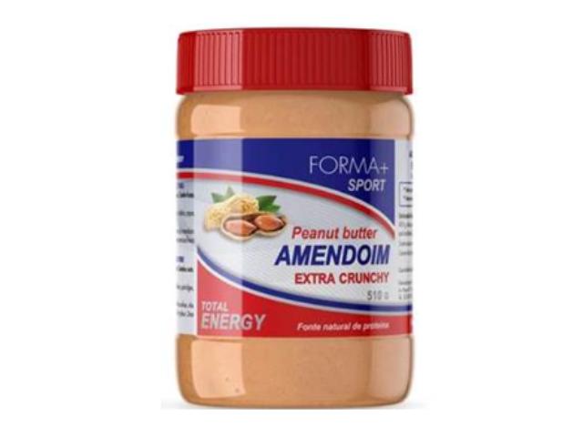 MANTEIGA AMENDOIM PEDAÇOS FORMA+ 510G C/12