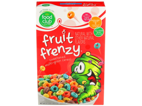 CEREAL FRUIT FRENZY FOOD CLUB 345G C/16