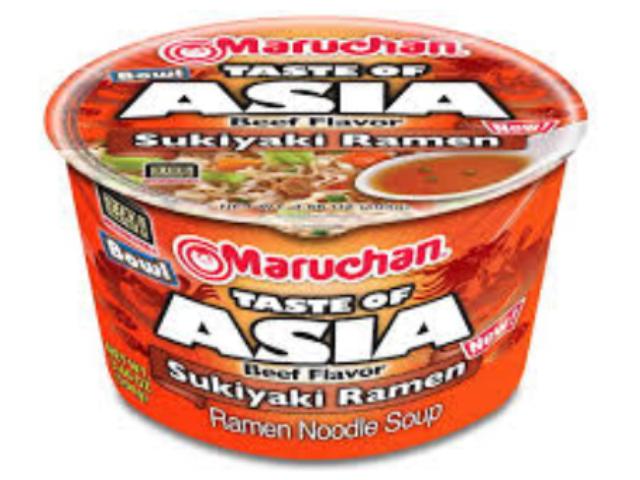 RAMEN NOODLES ASIA SUKIYAKI MARUCHAN 104G C/6