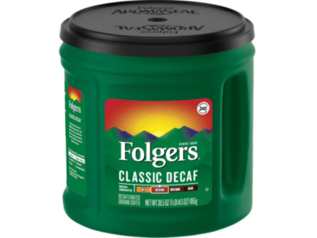 CAFE MAQ. FOLGERS DESCAFEINADO 865G C/6