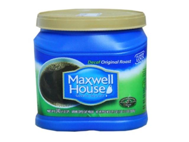 CAFE MAQ. MAXWELL HOUSE DESCAFEINADO 830G C/6