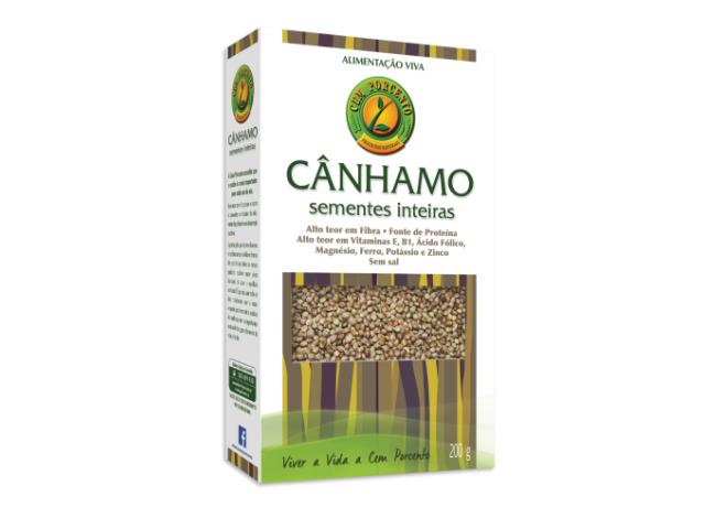 CANHAMO SEMENTES INTEIRAS CEM PORCENTO 200G C/12